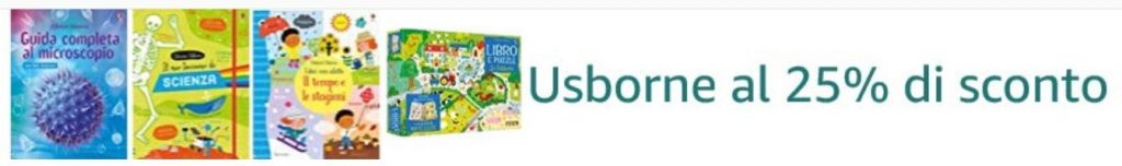 -25% di sconto sui libri Mondadori Usborne!